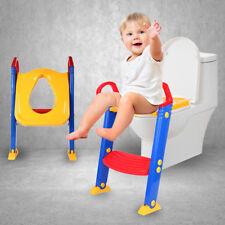3 in 1 Toilettentrainer Baby Kinder Toilettensitz Lerntöpfchen Leiter Faltbar