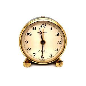 VTG Estate Mersmann Looping 8 Days 15 Jewels Swiss Hand Painted Alarm Clock! 27
