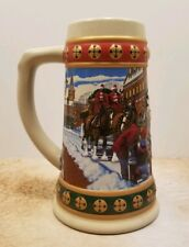 Budweiser Hometime Holiday Stein 1993 Clydesdales Holiday Stein Collection