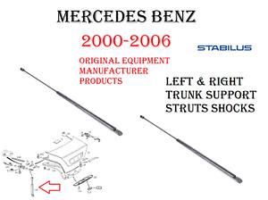 Mercedes Trunk Support Strut Shocks Set of 2 For W215 CL500 CL55 CL600 CL65 OEM