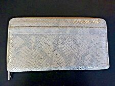 Silpada Margeaux Wallet F0014 Suede Leather Animal Snake Print New In Plastic