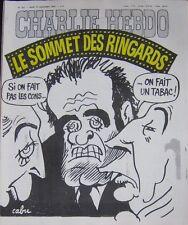 CHARLIE HEBDO No 357 SEPTEMBRE 1977 CABU LE SOMMET DES RINGARDS