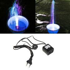 AC 220V 5W Submersible Water Pump LED Aquarium Fountain Fish Pond Tank EU Plug