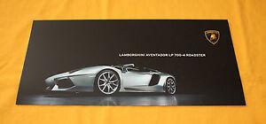 Lamborghini Aventador LP 700-4 Roadster Prospekt Brochure Catalog Folder