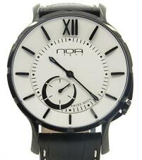 NOA Slim Watch 18.60 MSLQ-004 White Dial Black Case 40mm Brand New w/ B&P