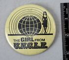 Rare The Girl From UNCLE Pin Back Button Stefanie Powers Man TV Show