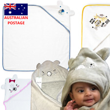 Baby hooded towel 100% Cotton bath beach NEW infant Kids wrap Modern Styles