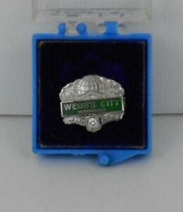 Rare Vintage Webb's City, St. Pete, FL 10k White Gold w Diamond Service Pin