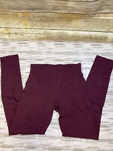 Workout Pants  Maroon Size Small