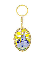 Disney Parks Exclusive Castle Picture Metal Key Chain Keychain New