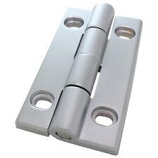 Scharnier Schwerlastscharnier Drehband AL 90 Aluminium Druckguss 35x58 mm silber