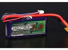 RC Turnigy Nano-Tech 1300mah 2S 7.4v 25~50C Lipo Battery Pack JST-XH XT60