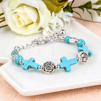 Fashion Vintage Tibetan Silver Plated Bracelet Turquoise Bangle Woman Jewelry