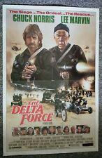 Delta Force 1986 Chuck Norris Lee Marvin Martin Balsam Original One Sheet Poster