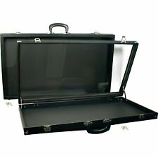 2 Black Glass Top Travel Jewelry Display Carrying Case 30 X 17 12