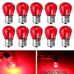 10 x 1156 RED 12V 21W BA15S Light Bulb Auto Car Brake Stop Signal Turn Tail Lamp