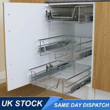 Pull Out Kitchen Storage Basket Pull /Slide Out Cupboard Drawer Wire Mesh 600mm