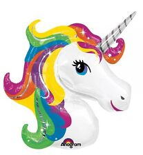 "33"" Unicorn Head SuperShape Metallic Foil Balloon"
