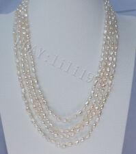 100% natürlich 7-9mm weißen Barock Süßwasser Perlenkette 200cm