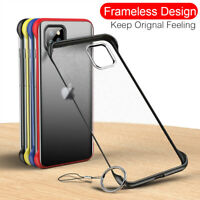For iPhone 12 11 Pro XS Max XR X 8 7 6 Plus Frameless Slim Hard Phone Case Cover