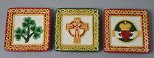 MWW Market Decorative Small Plates Celtic Lot of 3 Shamrocks, Cross, Claddagh