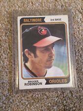 +++ BROOKS ROBINSON 1974 TOPPS BASEBALL CARD #160 - BALTIMORE ORIOLES +++