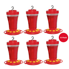 6-Pack First Nature 3090 Hummingbird Nectar Flower Feeder - Made in the Usa 32 o