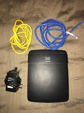 Cisco Linksys E1200 10/100 Wireless N Router w/ Power Cord & Ethernet Cables