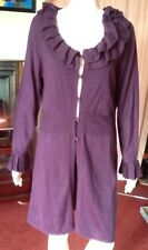 Deep Purely Full Length Cardigan With Frilled Collar From Per Una Size 16