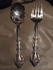International Silverware Serving Spoon And Fork Set