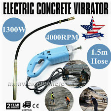 Electric Concrete Vibrator - w/35mm Vibrating Poker & 1.5m Hose -Hand Held-1300W