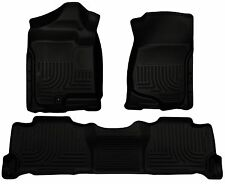 Husky Liners WeatherBeater Floor Mats- 3pc - 98251- Escalade/Tahoe/Yukon - Black