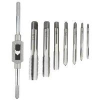 8 in 1 Tap Tool Set Thread Metric Machine Hand Screw Thread Plug Taps Set G8C1