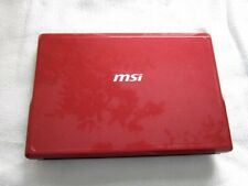 MSI U123 WIND Netbook/Notebook Intel Atom Processor Excellent Used Condition!