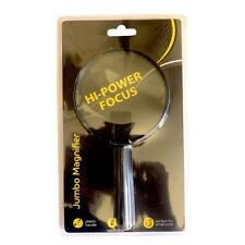 """100mm (4"""") Hand Held Magnifying Glass Large Magnifier 3 x Acrylic Lens"""