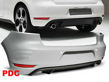 PARE CHOC ARRIERE, SPOILER,  DIFFUSEUR VW GOLF 6 GTI STYLE TWIN PDC