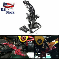 CNC Rearset Footpegs Rear Set For Honda GROM MSX125 2012-2013 2014 2015 US Black