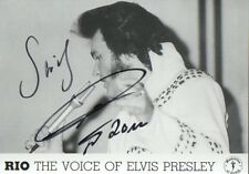 Autogramm - Rio the Voice of Elvis Presley