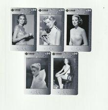 (5) Rare Phone Cards Grace Kelly