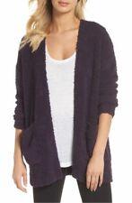 NWT Barefoot Dreams CozyChic Knit Cardigan in Amethyst Purple Sweater L / XL