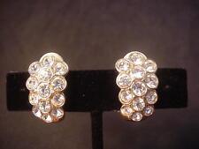 Swarovski Earrings Crystal Clip On Nice Bling Swan Mark Designer