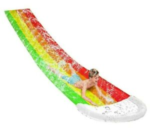 Inflatable Pool Lawn Water Slide Outdoor Backyard For Kids Children Summer Plays