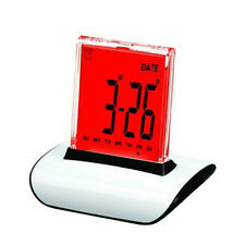7 Color Changing Backlight Digital Thermometer Calendar Alarm Clock Large Screen