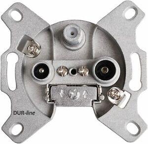 DUR-line SAT/BK Antennen-Steckdose 3-Loch | Durchgangsdose, Unicable-tauglich