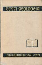 Eesti geoloogia bibliograafia 1840 1959 bibliographie livres géologie Estonie