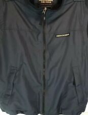 Abecrombie and Fitch Mens Vest Nylon and Polyester L Navy Blue