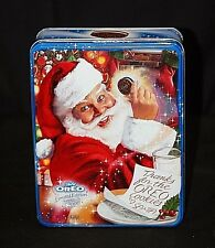Old Vintage Advertising Oreo Santa Limited Edition Litho Tin Can 2000 Container
