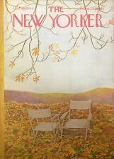 The New Yorker Magazine Cover, October 17, 1964, cover art by Ilonka Karasz