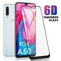 3D FULL COVER Tempered Glass Screen Protector for Samsung A70 A50 A40 A20e A10