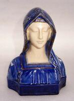 Sculpture en faience Notre Dame de Lourdes signée Attilio Fagioli